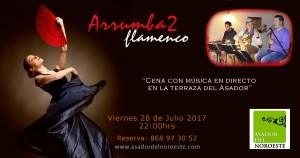 """Cena en la terraza con música en directo """"Arrumba2 flamenco"""""""
